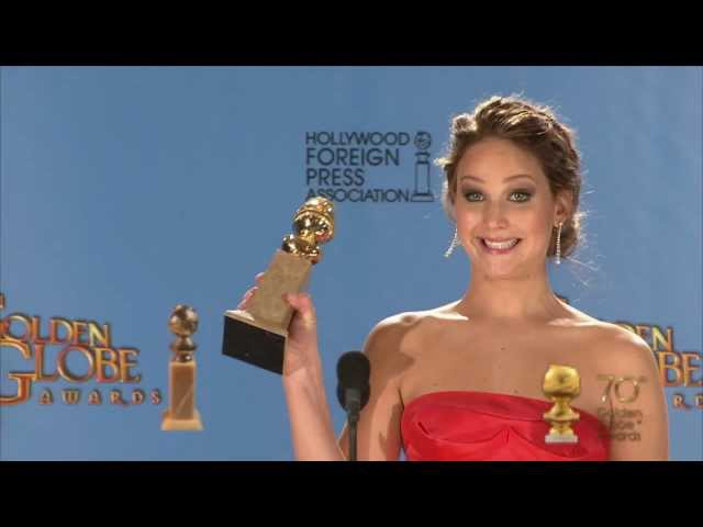 Backstage with Jennifer Lawrence, best actress comedy/musical