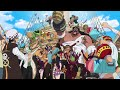 One Piece Dressrosa 745 Luffy's allies celebration SUB ENG