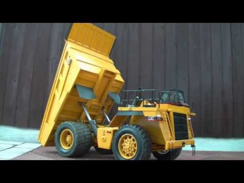 CAT 777D TEST RC DUMPER, RC TIPPERE, RC BUILDING MASHINES, RC KIPPER