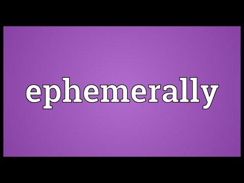 Header of ephemerally