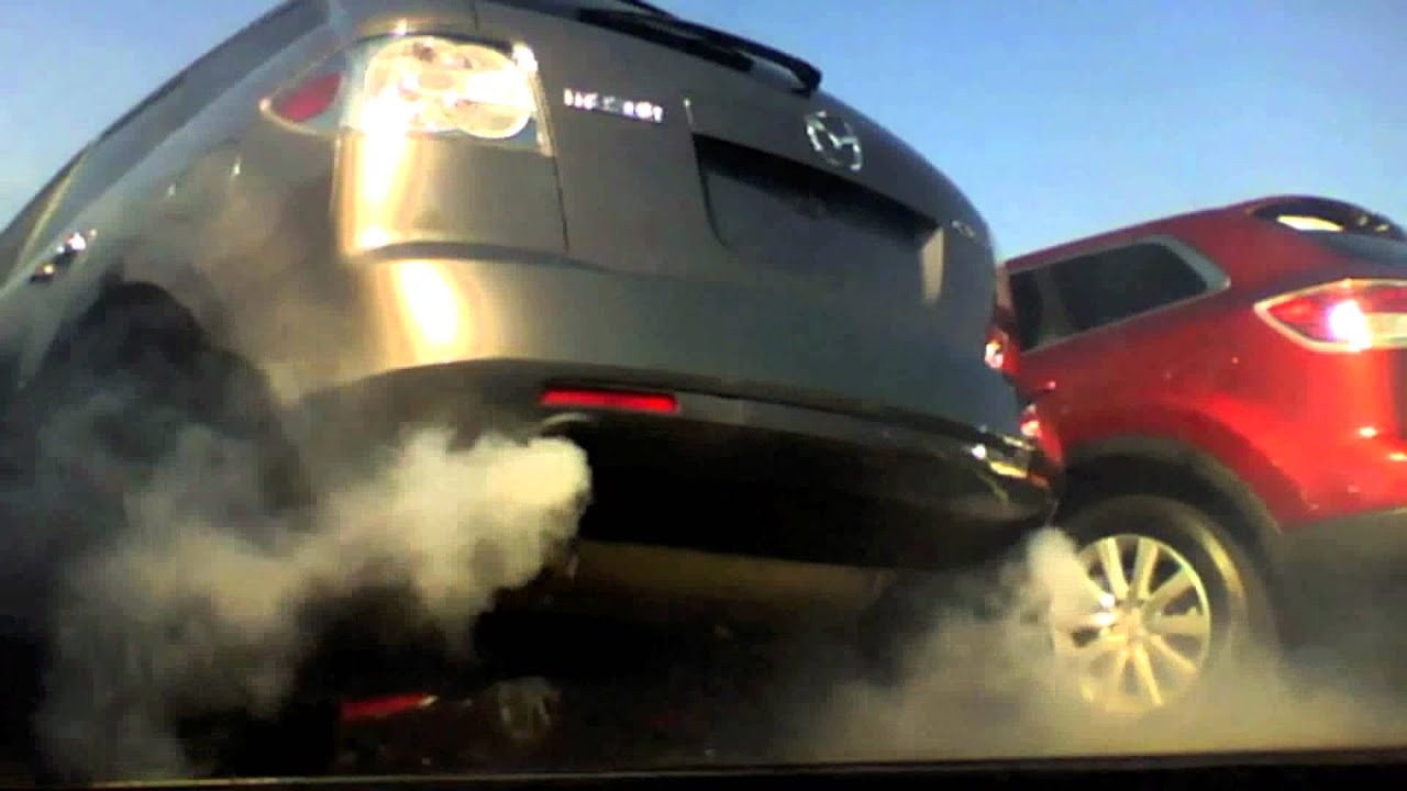 Smoking 2009 Mazda Cx 7 Turbocharged 2 3l Failing Turbo 30k Youtube