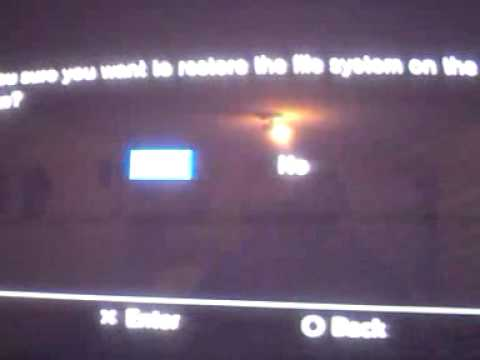 How to fix the ps3 error code 80010038