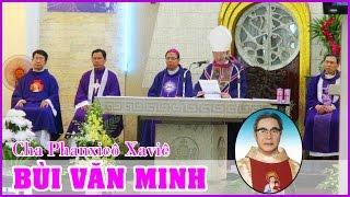 Đức Tổng Phaolô Bùi Văn Đọc giảng lễ an táng Cha Bùi Văn Minh