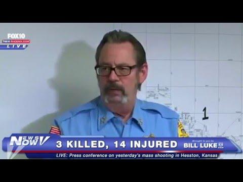 FULL Press Conference on Hesston, Kansas Shooting - Gunman Kills 3 People, Injures 14 Others