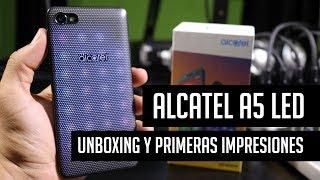 Alcatel A5 LED: Unboxing y primeras impresiones en español