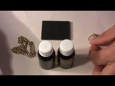 Видео как проверить белое золото на подлинность