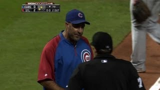 CHC@STL: Sveum is tossed after arguing play at plate