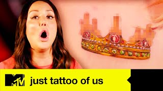 Ashley Can't Believe This Tattoo Is Permanent | Most Ridiculous Tattoos | Just Tattoo Of Us