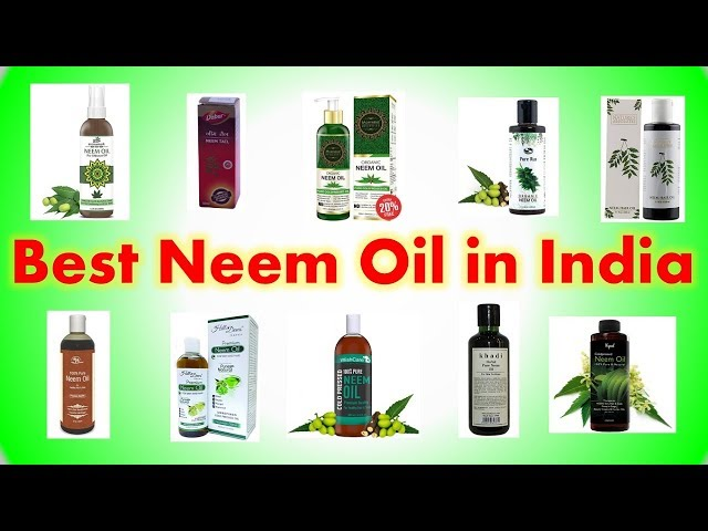 Best Neem Oil in India with Price 2019 | Best Oils For Skin & Hair Growth thumbnail
