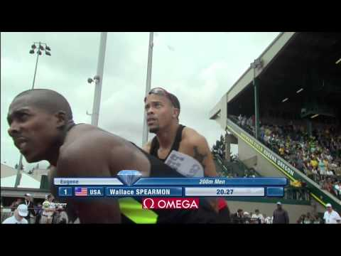 SAMSUNG DIAMOND LEAGUE 2012 Eugene 200m M