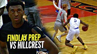 Findlay Prep TOO MUCH for Kyree Walker & Hillcrest! Ron Artest Watching His Son Jeron Artest!