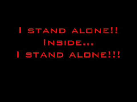 Godsmack- I Stand Alone Lyrics video