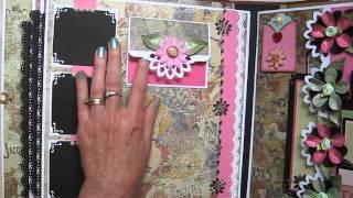 Handmade  Large (not mini) 11x11 Scrapbook Album (Tutorial on Etsy)