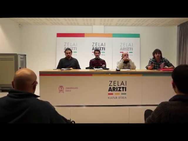 """Zumarraga eta Urretxuko """"Irabazi-Ganemos"""" aurkeztu dute. 2014 abendua"""
