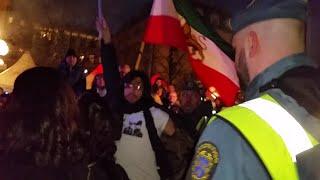 حمله برگزارکنندگان چهارشنبه سوری به پرچم شیروخورشید_استکهلم