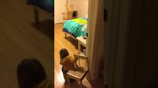 Relocating her furniture