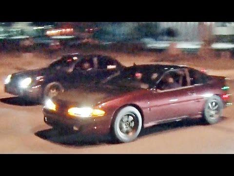 AWD Street Battle! 750hp VADER STi Vs 700hp DSM Vs 850hp Evo