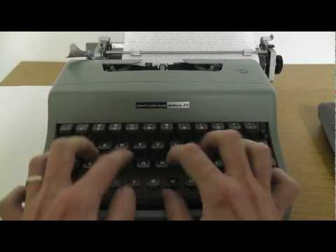 Typing a Letter with an Typewriter for ASMR and Relaxing