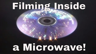 I Figured Out How to Film Inside a Microwave! Slow Motion in HD of a CD Filmed Inside a Microwave