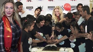 WWE Superstar Charlotte Flair Celebrates Children's Day In India With KIDS
