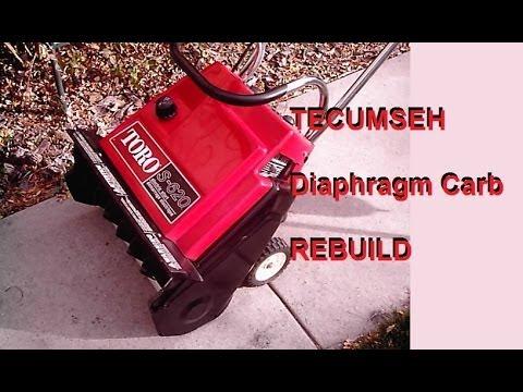 Tecumseh diaphragm carb 1of2 Toro S140 S200 S620 rebuild