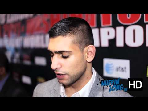 We caught up with Amir Khan ahead of his fight with Lamont Peterson @ their press conference in London. www.nuffinlong.com @nuffinlong dont forget to subscribe.