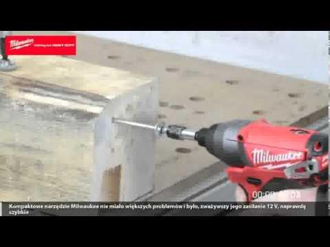Test zakrętarki udarowej Milwaukee M12 CID