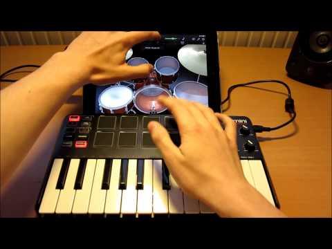 NEW Akai MPK Mini Live Performance 2 - iPad GarageBand