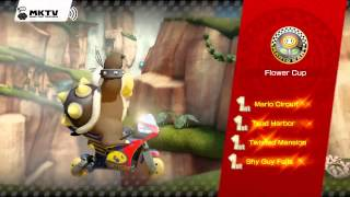 Mario Kart 8 Gameplay - Mirror Flower Cup - Award Ceremony - 150cc