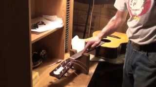 Acoustic Guitar neck adjustment, Yamaha Fret dressing and Set Up and Demo