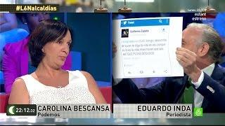 Inda y Bescansa la lían parda a cuenta de los tuits del concejal bocazas Zapata