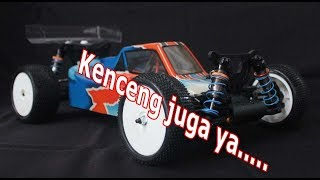 Unboxing dan running review caster racing s10b buggy 1:10 RTR brushless