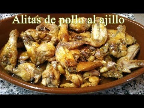 Receta fácil y rápida de Alitas de pollo al ajillo