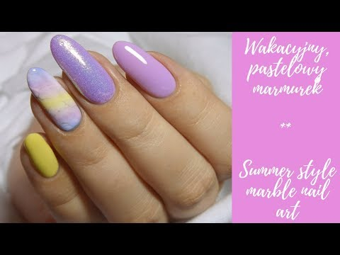 Wakacyjny, Pastelowy Marmurek | Summer Marble Nail Art | Provocater