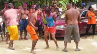 trini dance off competition at guanapo river pool 1