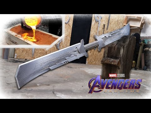 Download Making THANOS NEW Sword From Avengers: Endgame REVEALED? Aluminum Casting Mp4 baru