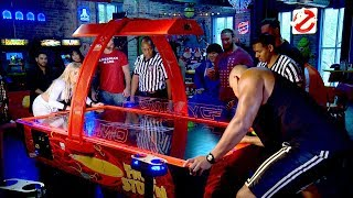 NXT Superstars go puck wild in an absurd air hockey competition