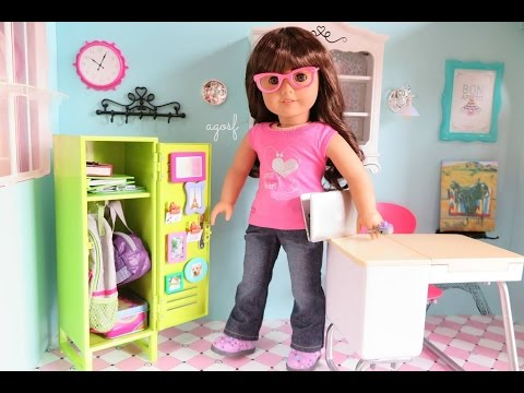 American Girl School Locker Set ~ Review and Set Up