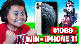 IF YOU WIN FORTNITE, I WILL BUY YOU THE *NEW* IPHONE 11!! FAZE KAYLEN PLAYS FOR FORTNITE SURPRISE!