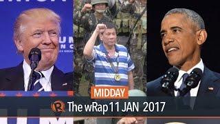 SWS survey, Obama farewell, Donald Trump   Midday wRap