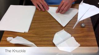 How To Make A Fast Paper Airplane--the Knuckle