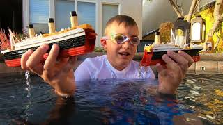 Larry Life TITANIC SUBMERSIBLE ship sinks in the Spa!