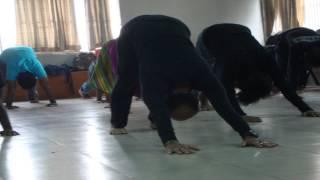 mime workshop,2013 by huda at shilpokola academy