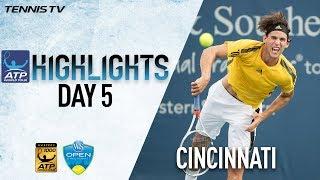 Highlights: Isner, Thiem Move Into Cincinnati Quarters