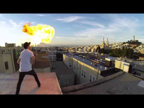 GoPro: Fire Breathing With A 24 GoPro Array
