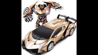 Ô tô biến hình - Robot biến hình transformers - ô tô biến hình điều khiển từ xa