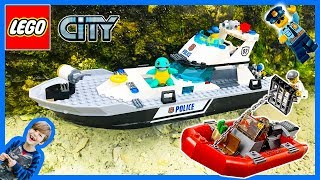 Lego City Police Patrol Boat at the Beach!