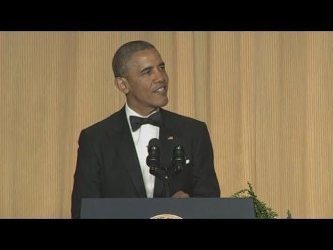 President Obama mocks himself and Putin at correspondents' dinner