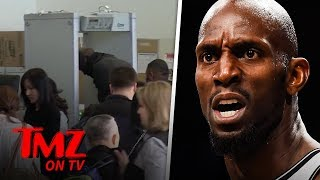 Kevin Garnett Goes Through Metal Detector 4 Times! | TMZ TV