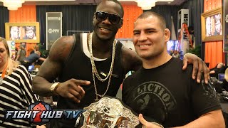 Cain Velasquez meets Deontay Wilder -MMA meets Boxing: mayweather pacquiao